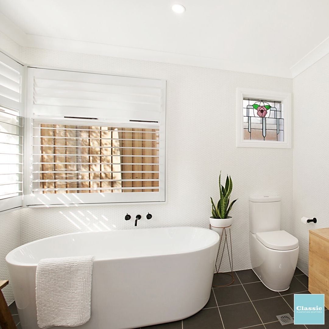 Plantation Shutters are great in wet areas